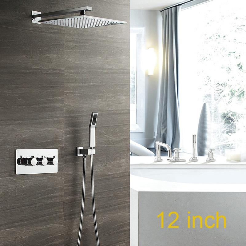 2019 modern bathroom shower set square rain shower 300 x300 mm top rh dhgate com