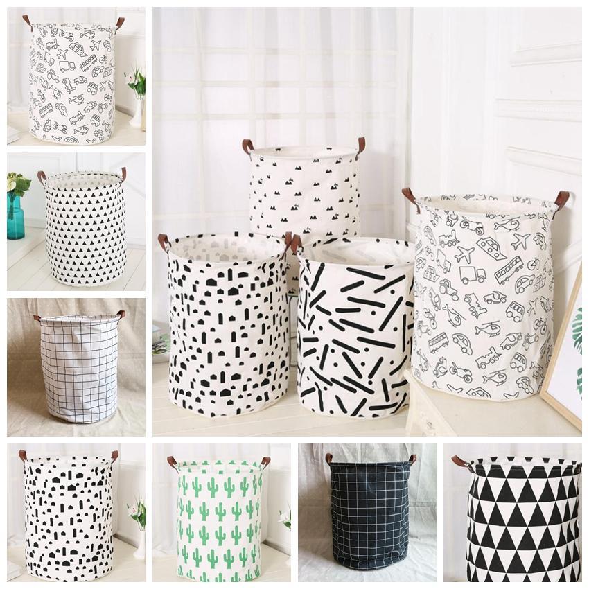 2019 ins kids baby room toys storage canvas laundry basket bag rh dhgate com