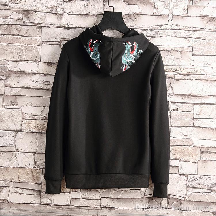 ffa5093eb02 2018 Designer Brand Hip Hop Streetwear Hoodie Embroidered Box Logo Cotton  Hoodies For Men Women Skateboards Hoodies Sweatshirt Online with   37.85 Piece on ...
