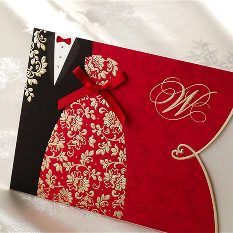 invitation wordings for wedding by bride and groom%0A New Classic Bride And Groom Laser Cut Wedding Invitation Cards Personal  Customization Printing Event  u     Party Supplies Free Printable Birthday Cards  Free