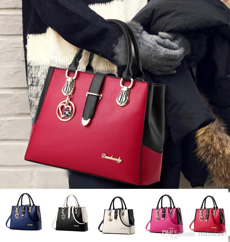 New Patchwork Women Elegant Handbag Shoulder Bag Hobo Bag Satchel Purse  Totes Messenger Crossbody Satchel Business Bag For Ladies Work Style  Designer ... a188756ee7934