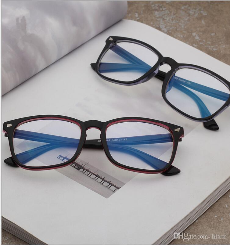 fa66cf2f2da4 2019 Rick Optics Rice Nails Korean Eyeglass Frame Wholesale Computer Goggles  Conventional Glasses Male And Female General Eyeglass Frames From Hlxm