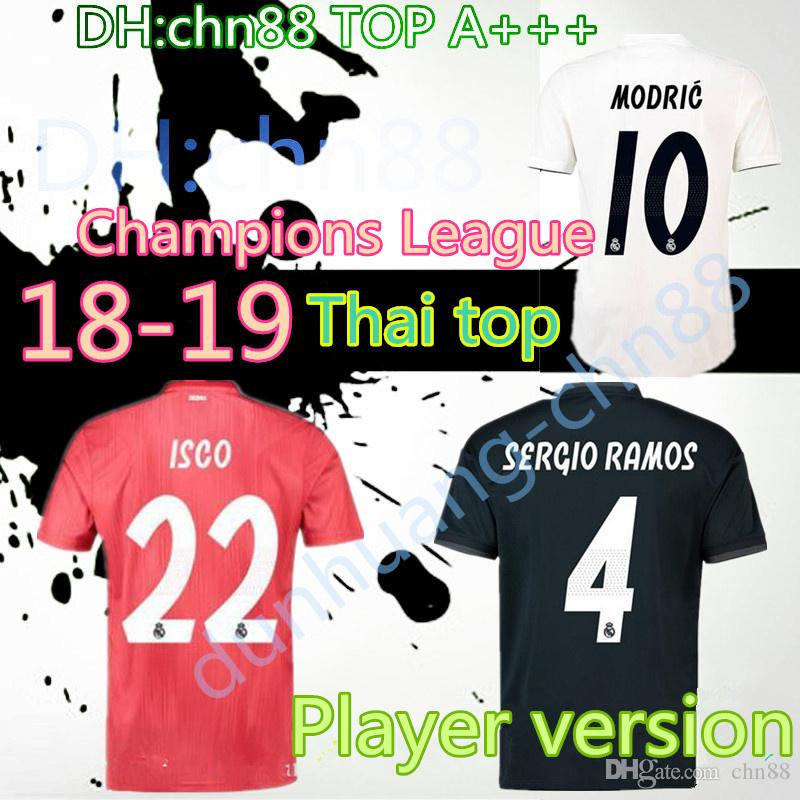 c356b6954 2019 18 19 Player Version Real Madrid Home Soccer Jersey 2018 2019 Top Thai  Quality MARIANO MODRIC BALE ASENSIO MARCELO ISCO Away Football Shirt From  Chn88