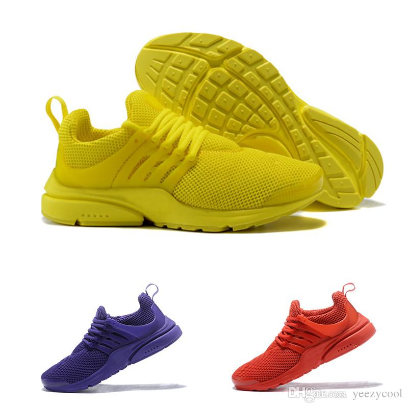 2018 Top Quality Presto 5 Running Shoes Men Women BR QS Breathe Black White Yellow Sports Outdoor Casual Walking Sneakers 36 46