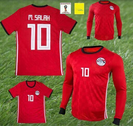 2019 Camisetas De Futbol 2018 SHEKABALA Egypt Soccer Jersey Equipe World Cup  Maillot Egyptian Messi Mohamed Salah Uniforms Long Sleeve Jerseys From ... 042505731