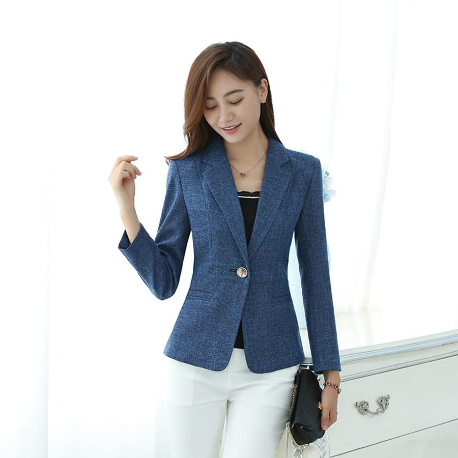 rico y magnífico barato mejor valorado ofrecer descuentos Slim Long Sleeve Blazer Ladies Buckle Plaid Elegant Tweed Blazers Casual  Mujer Tailleur Femme Suit Jacket Office Wear 50N0930