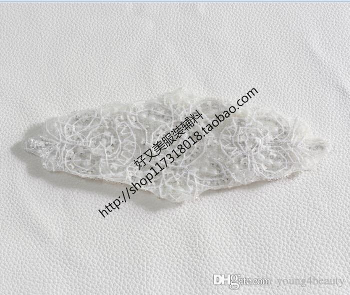 envío libre / pack flor de la manera adornos nupciales cristal claro apliques de diamantes de imitación con perlas hotfix para accesorio de vestir.