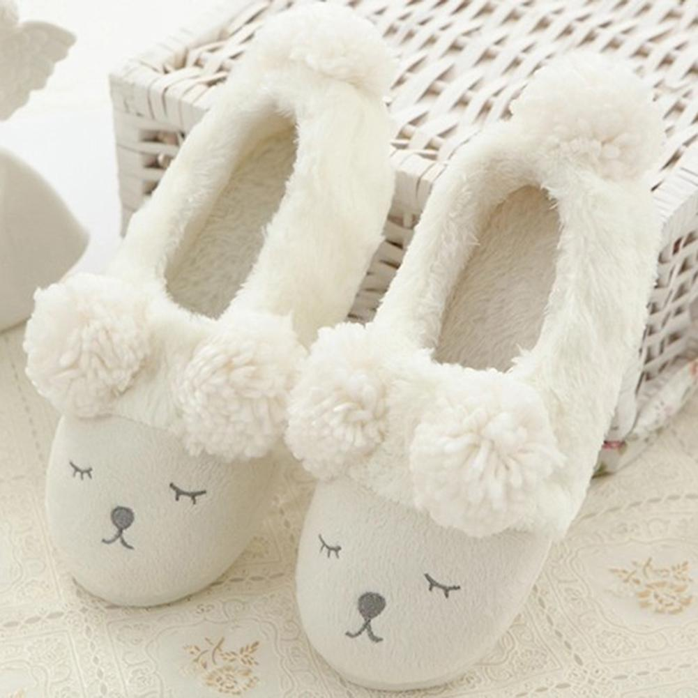 addd541cb85 Cute Winter Cartoon Sheep House Slippers Anti Slip Cashmere Indoor Floor  Shoes Indoor Flats Shoes Slipper For Winter Blue Shoes Womens Loafers From  ...