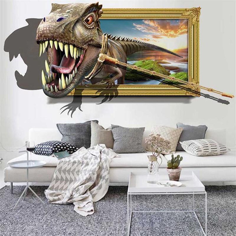 cartoon wall stickers dinosaur 3d stereo wall effect painting rh dhgate com
