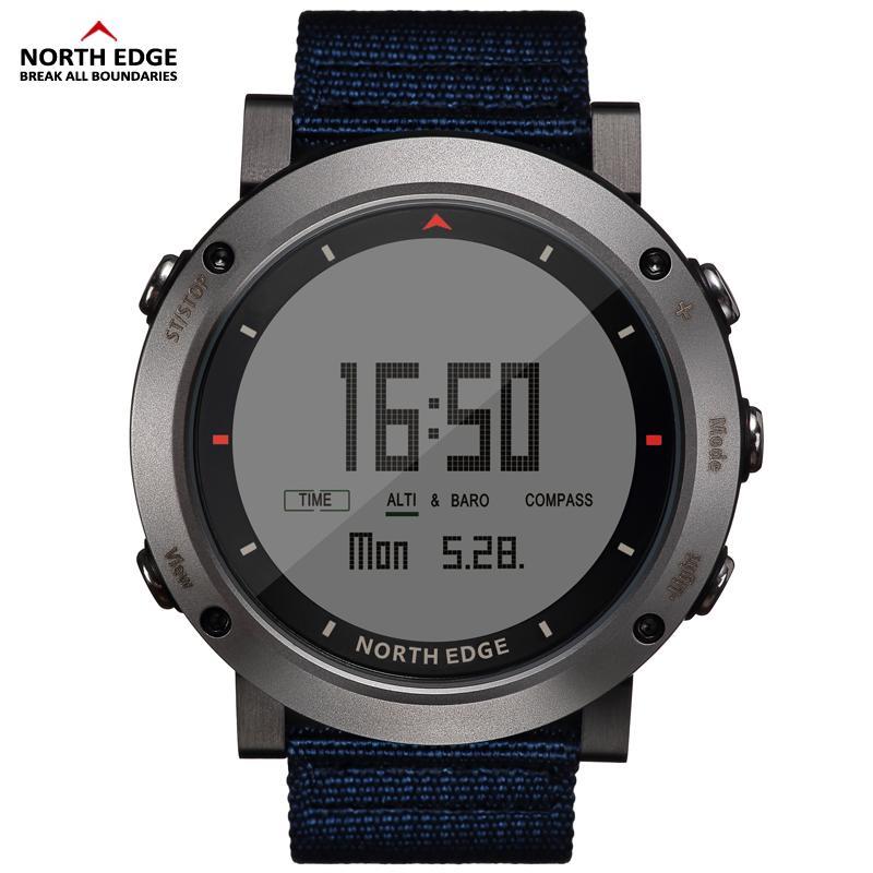 Schrittzähler 2018 Männer Sport Digitale Uhr Stunden Lauf Schwimmen Military Armee Uhren Höhenmesser Barometer Kompass Wasserdicht 50 Mt