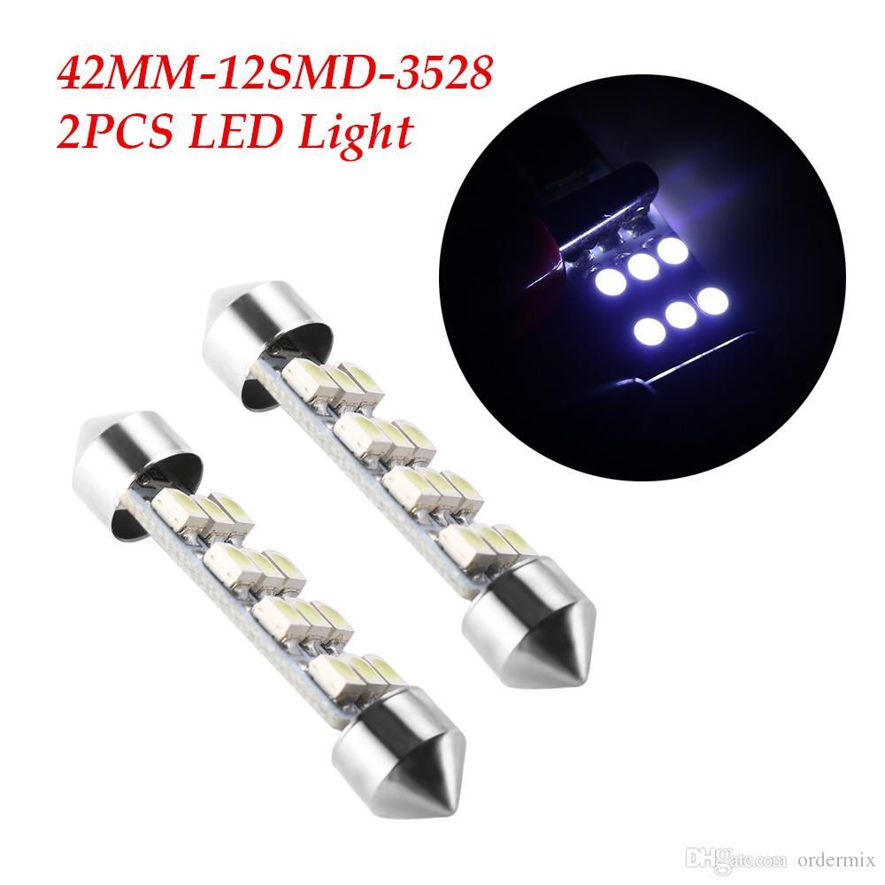 nouvelle pur cristal blanc bleu 42mm C5W Canbus 12SMD Led ampoule 2835SMD voiture lampe automobile DC12V lumière plaque d'immatriculation ampoule
