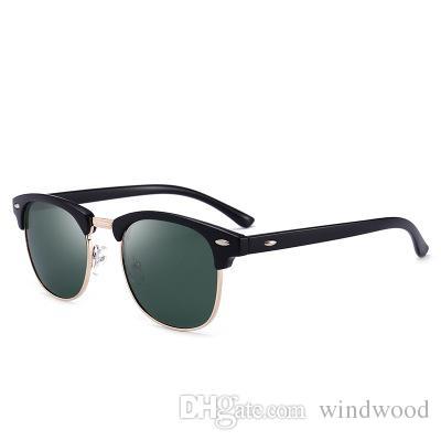 ba02a40ff3 Semi Metal High Quality Sunglasses Men And Women Driving Full Frame Round  Polarized Retro Fashion Sun Glasses UV400 Glasses Online Polarized  Sunglasses From ...