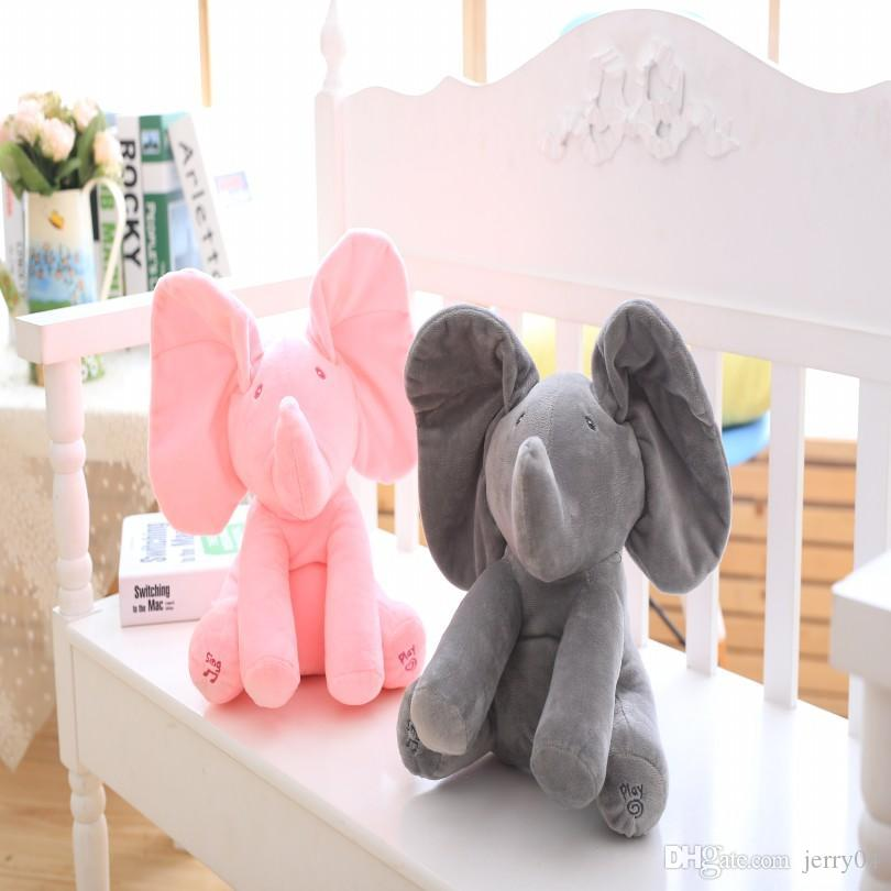 2019 Peek A Boo Elephant Stuffed Animals Plush Elephant Toy Plush