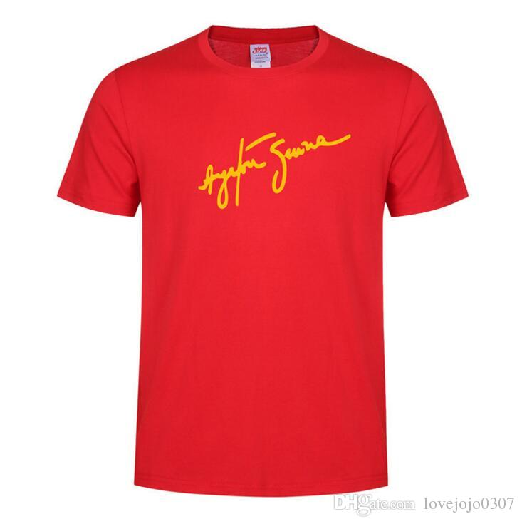 Ayrton Senna signature t shirt mens casual cotton summer top O-neck short sleeve mens wear brazil jersey couples matching clothing t shirt