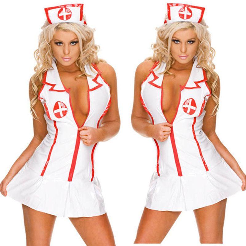 Compre JiaHuiGe Disfraces De Enfermeras Sexy Para Mujeres Traje De Enfermera  Lencería Erótica Sexy Cosplay Disfraces Vestido Lenceria Erotica Mujer Sexi  ... ac390d9700f1