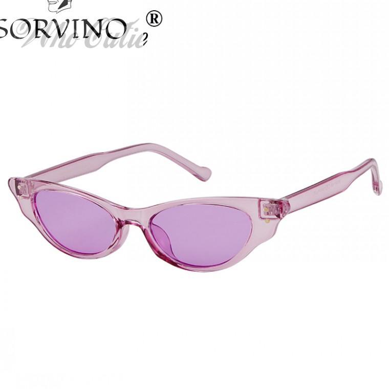 a81dd9b841 SORVINO 2018 Cat Eye Sunglasses Women Vintage Design 90s Modern Cateye  Crystal Frame Narrow Retro Tint Sun Glasses Shades 595 Serengeti Sunglasses  Sun ...