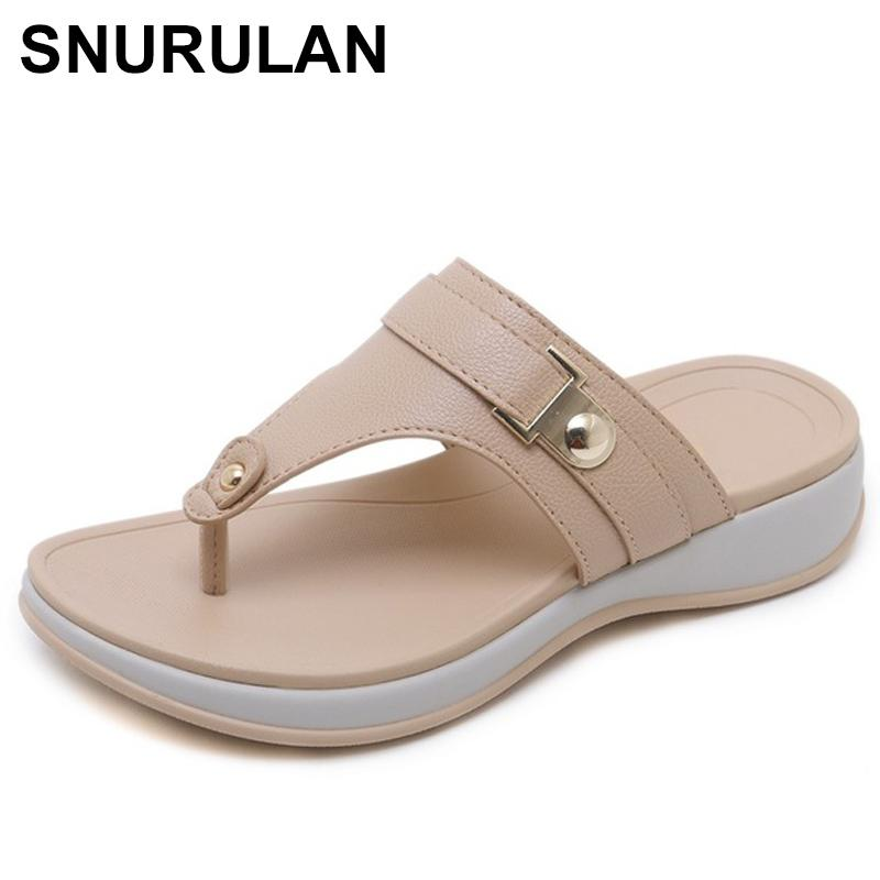 b42ee1b61 Wholesale Woman Slippers Summer Women Fashion Sandals Female Flip Flops Low  Heels Shoes Casual Comfortable Slippers Size E442 Cowboy Boots Ankle Boots  From ...