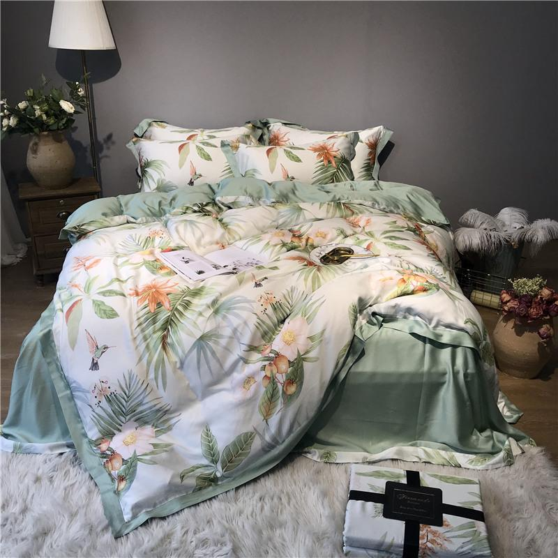 60s tencel silk bohemia bedding set queen king size bed sheet linen rh dhgate com