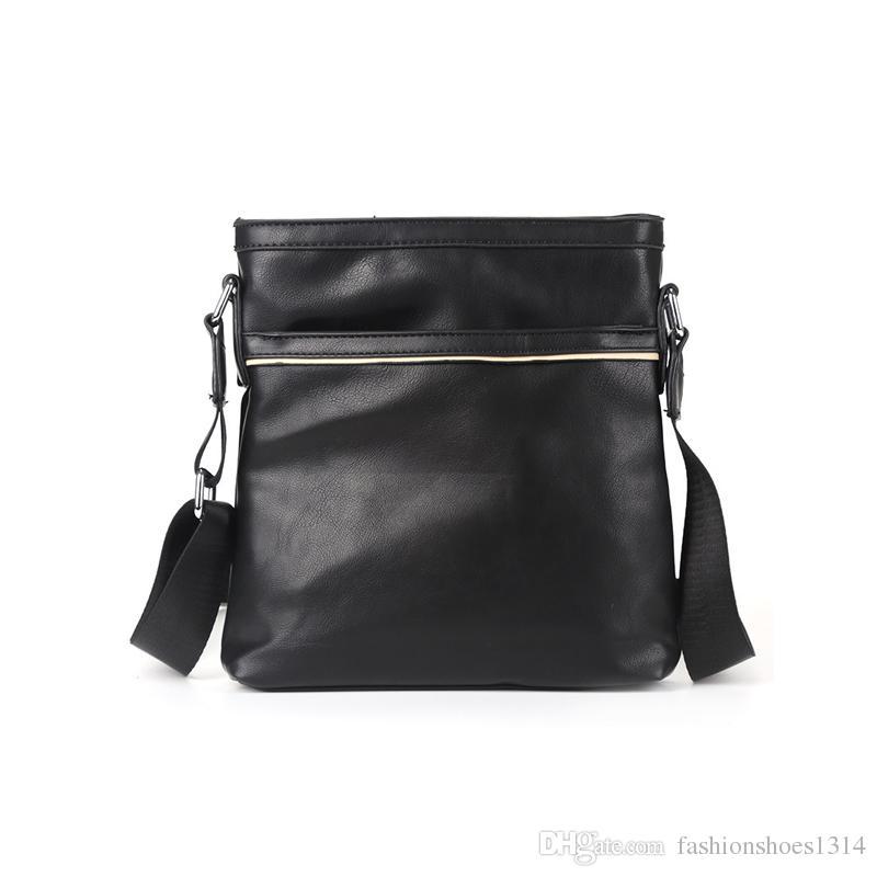 d4b28df602 Fashion Bags 2018 Famous Brands Business Travel Shoulder Bag Mens Fashion  Black Leather Crossbody Bags For Men Briefcase Bag Messenger Bags Hobo  Purses ...