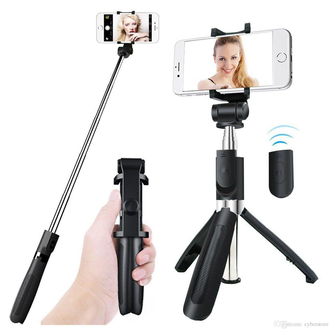 036f9374dcf8e9 2019 Bluetooth Extendable Selfie Stick Tripod With Wireless Remote And  Monopod Stand For Samsung Huawei Xiaomi IPhone X From Cyberstore, $5.03 |  DHgate.Com