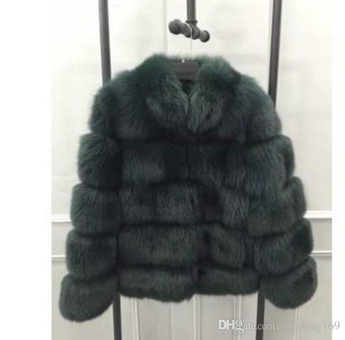 Cappotto di pelliccia di volpe faux donne Cappotto di pelliccia di nuovo inverno plus size colletto di stand donna manica lunga giacca di pelliccia sintetica gilet di pelliccia fourrure