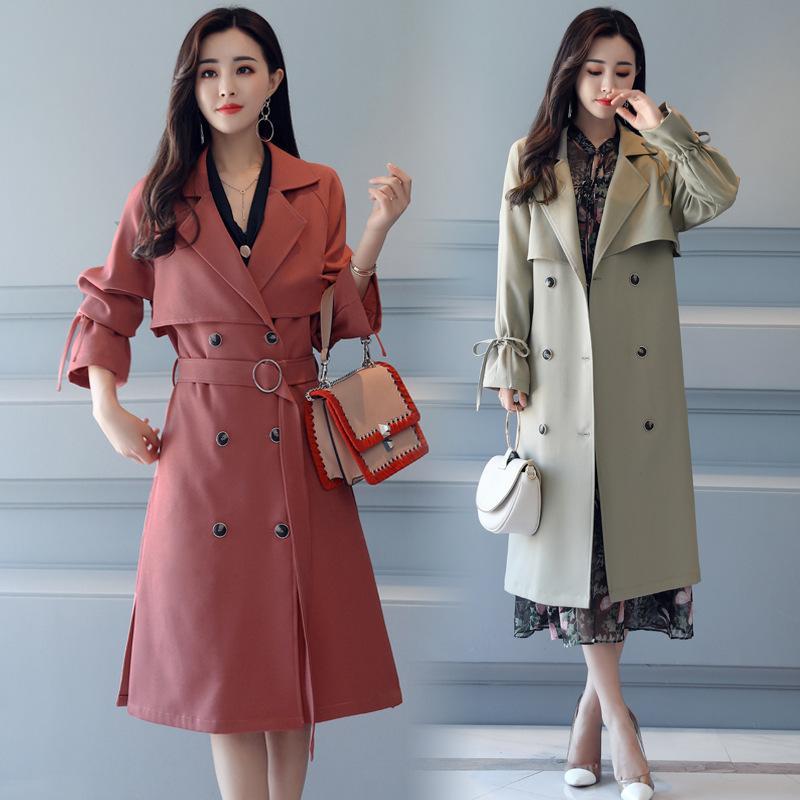 Autumn 2018 Spring Temperament Fashion New 2019 Slim Long Women a4TxZwa