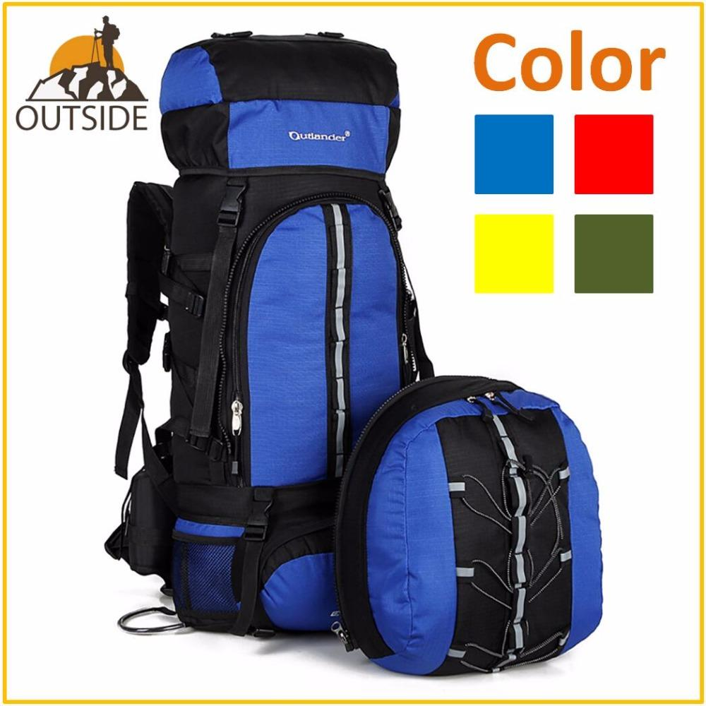 c02d9d751d92 80L Waterproof Climbing Hiking Backpack Rain Cover Bag 70L 10L Two Camping  Mountaineering Backpack Sport Outdoor Bike Bag