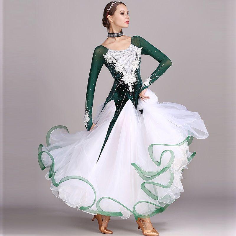 c21f185815 strass verde vestito da ballo da ballo abiti standard abiti da ballo  moderno costume da ballo valzer vestito luminoso costumi