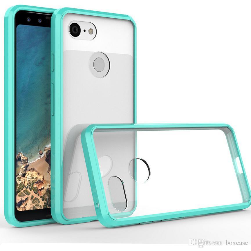 8d909897cf0 Fundas Acrílico + TPU Funda Rígida Transparente Para Google Pixel 3 XL  Huawei Nova 3 Y5 2018 Y7 Prima Anti Rayas Transparente Híbrida Shell Skin  Carcasas ...