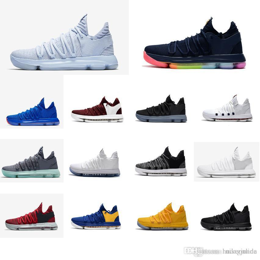 huge selection of 98d15 9a766 Cheap new women kd 10 X basketball shoes low cut Boys Girls Children youth  kids kevin durant kd10 air flights sneakers boots tennis for sale
