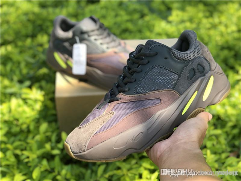 32bca3636e8c1 2018 Hottest 2018 700 Mauve EE9614 WAVE RUNNER Kanye West Running Shoes  2098Yeezy Men Women Authentic Quality Sports Sneakers With Original Box  From ...