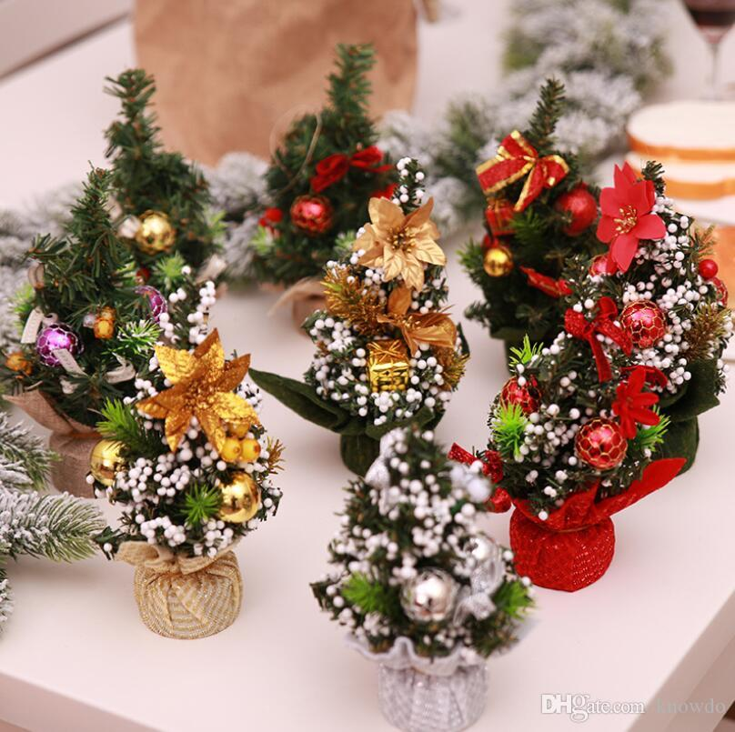 New Diy Christmas Tree Mini Trees Placed In The Desktop Home Decor