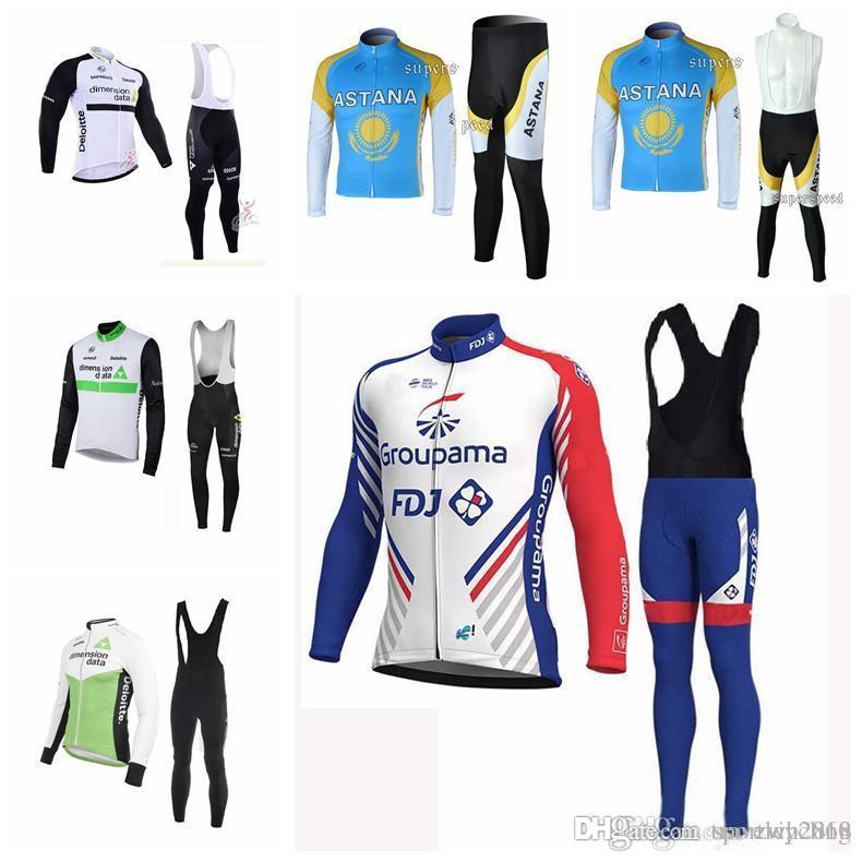 ASTANA FDJ MAVIC Team Cycling Long Sleeves Jersey Bib Pants Sets 2018 New  Arrival Riding MTB Quick Dry F1202  Cycle Shorts Castelli Bib Shorts From  ... b0bc9ea10