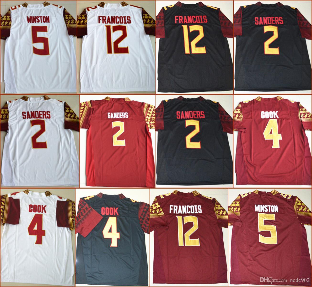 cbaa9ec3ec217 Compre Camisas De Futebol Americano Da Faculdade De Camisas De Estado De  Florida 2 Deion Sanders 4 Dalvin Cook 5 De Jameis Winston 12 Deondre  Francois ...