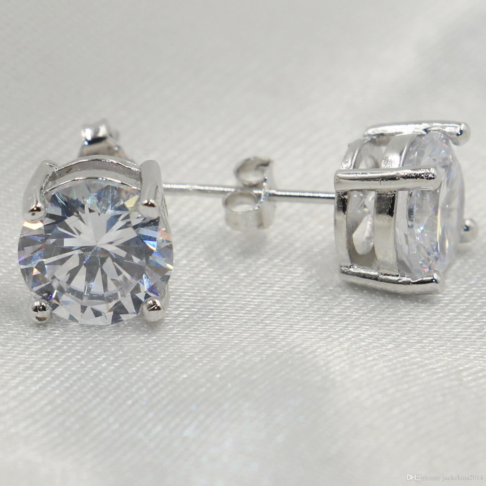 Choucong Heißer Verkauf Romantische Schmuck Ohrstecker Für Hochzeit Elegante 925 Silber Farbe 5A Zirkonia Stein CZ Diamant Ohrring Geschenk