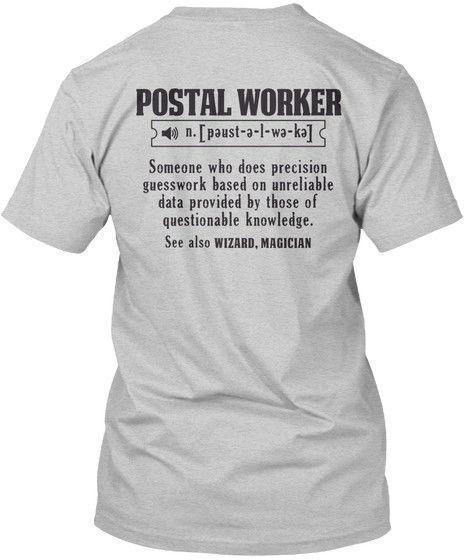 Postal Worker Trust Me I M A Worker N Popular Tagless Tee T
