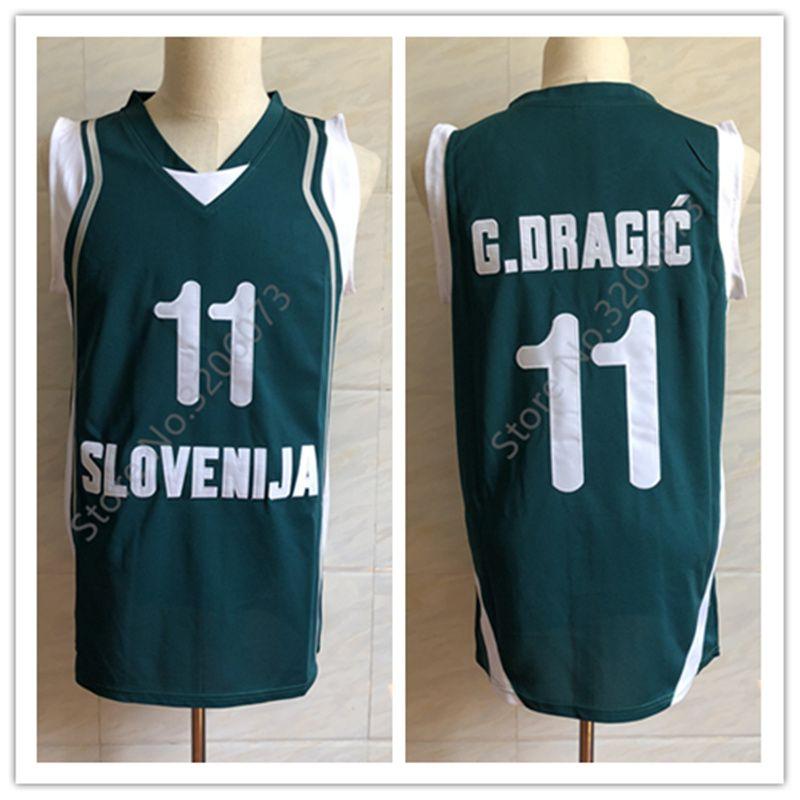 2019  11 Goran Dragic Team Slovenija Retro Classic Basketball Jersey Mens  Embroidery Stitched Custom Any Number And Name Jerseys From Yufan10 c77b0ba6a