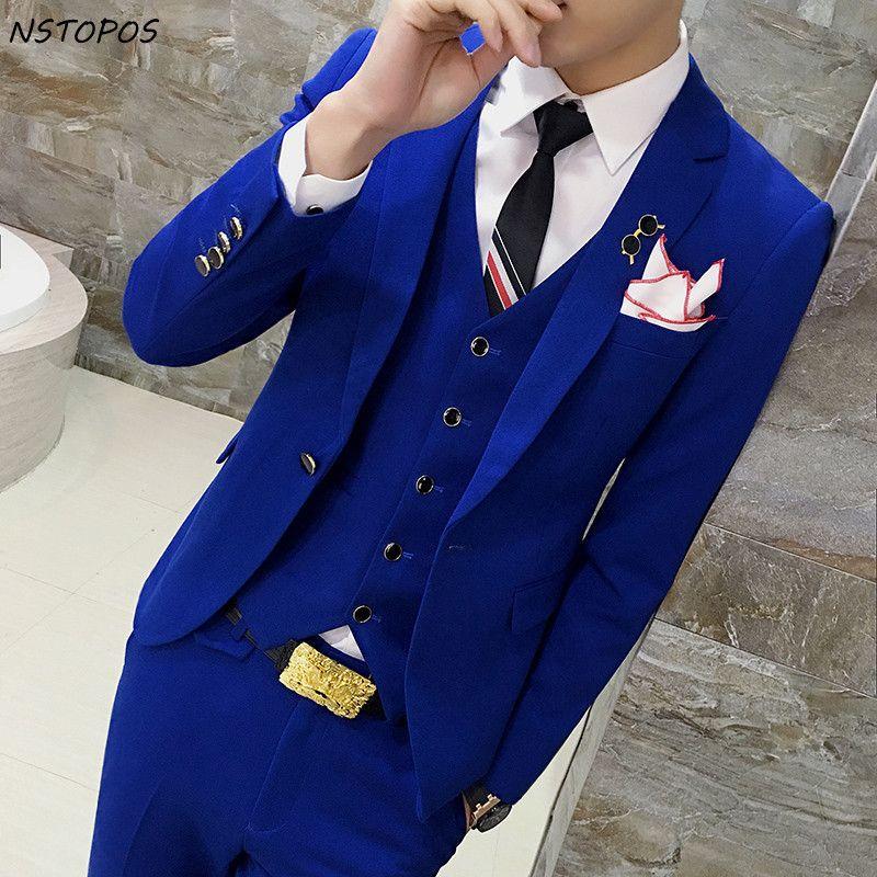 Acheter 6 Couleurs Bleu Royal Rouge Noir Gris Unique Brest Costume De  Mariage 4xl D affaires Forma Hommes Costumes De Marié Mariage Costume Homme  Slim Fit ... 9322b4829e7e