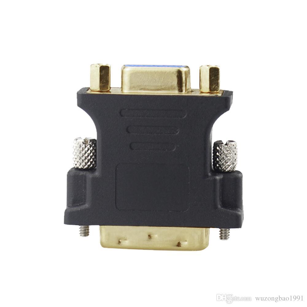 DVI к VGA адаптер DVI 24 + 5 к VGA мужчин и женщин конвертер адаптер для портативных ПК