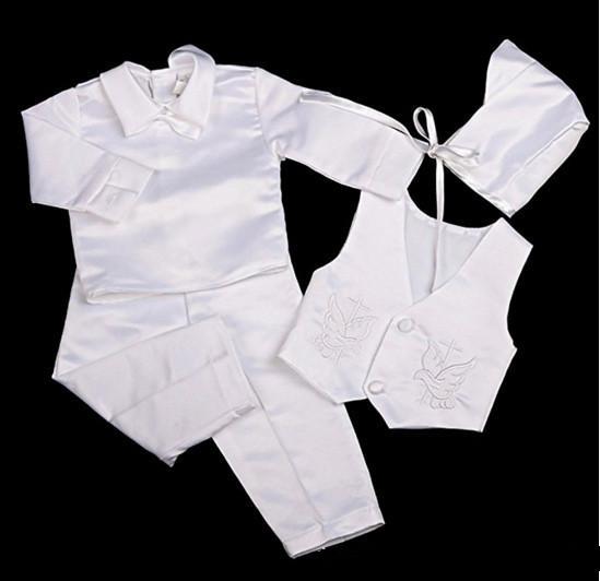 3637fa800 Compre Conjunto De Ropa De Bebé Formal Conjunto De Bautizo Del Partido Del  Traje De Boda Para 0 2T Trajes De Cuerpo Del Bebé Usar Chaleco + Camisa +  ...