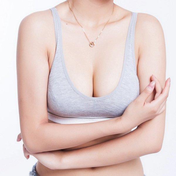 8f7b0838075ad 2019 Women Lady 100% Cotton Bust Push Up Sports Bra Underwear Bra 70 75 80  85 Size 32 34 36 38 From Simmer