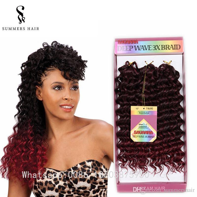 2019 10 Deep Wave Crochet Hair Bohemian Freetress Crochet Braids