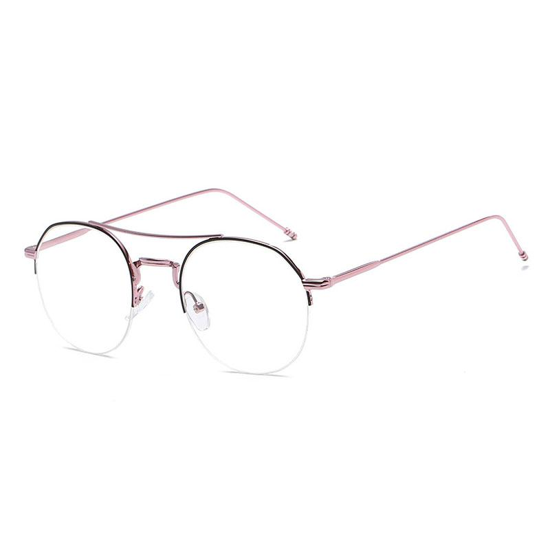 04cf231f677 JURUI Women Round Glasses Retro Metal Frame Eyeglasses Korean Clear Lens  Glasses Male Female Optical Plain Mirror J9790  1213 Plain Mirror Clear  Lens Frame ...