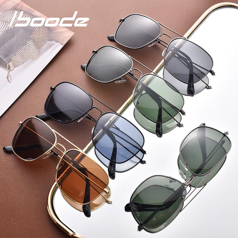 3354a49ec58 Iboode 2018 New Polarized Sunglasses Men Women Pilot Sun Glasses Driver  Safety Glasses Female Male Outdoor Shades Retro Sunglasses Baseball  Sunglasses From ...