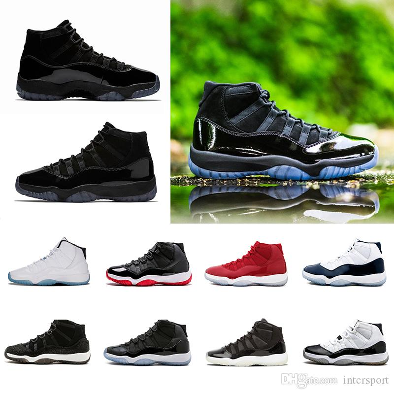 67ca57a790a8 11 11s Prom Night Men Basketball Shoes Blackout Platinum Tint Gym Red  Midnight Navy PRM Heiress Closing Concord Bred Sports Sneakers Shoes  Carmelo Anthony ...
