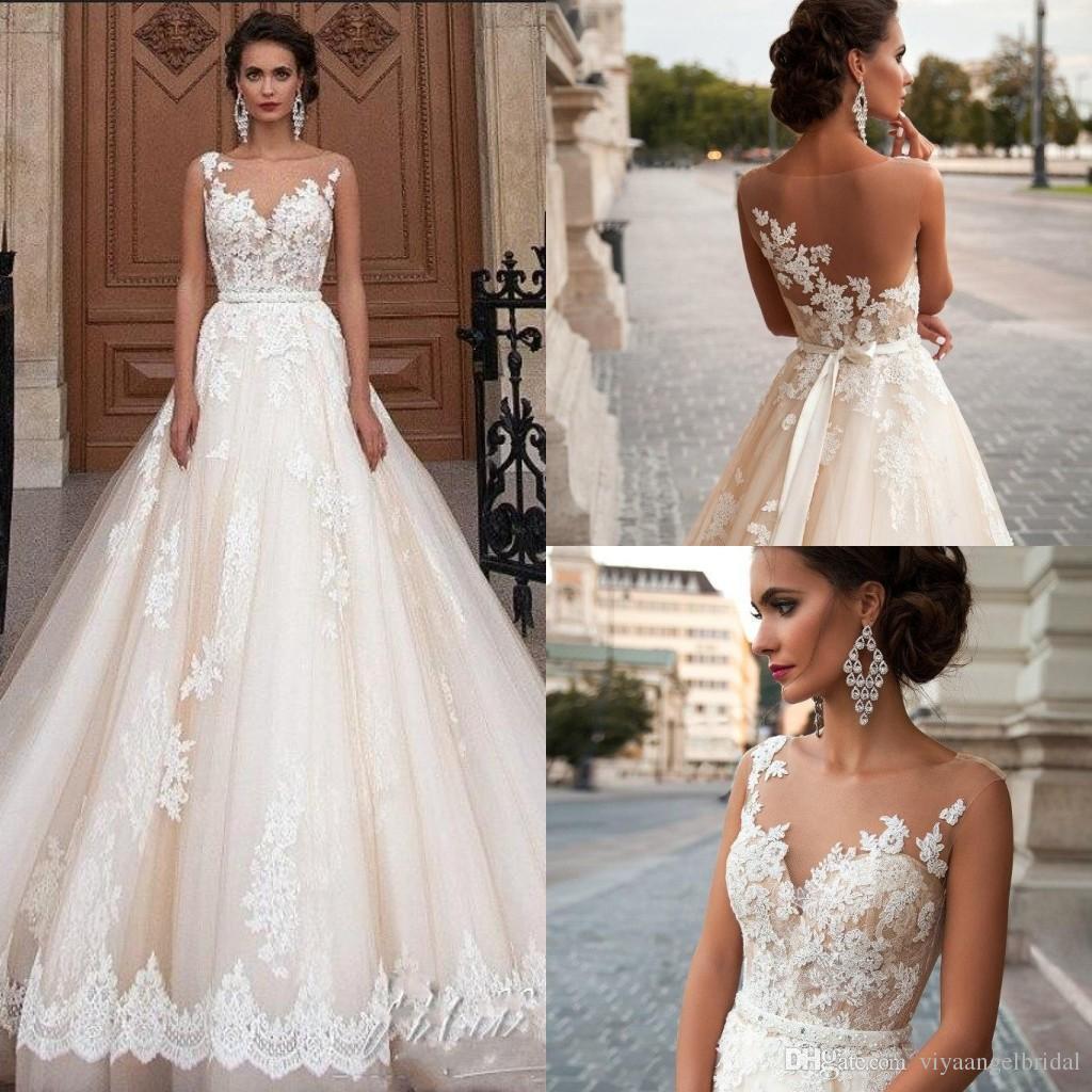 Discount Arabic Milla Nova 2019 A Line Wedding Dresses