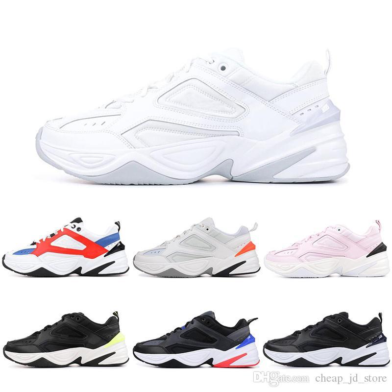 5906bd9b6d990b Acheter Nike Pas Cher Designer M2K Tekno Papa Chaussures Hommes John  Elliott Paris Fantôme Rose Noir Volt Blanc Entraîneur Femmes Running Sport  Baskets 36 ...