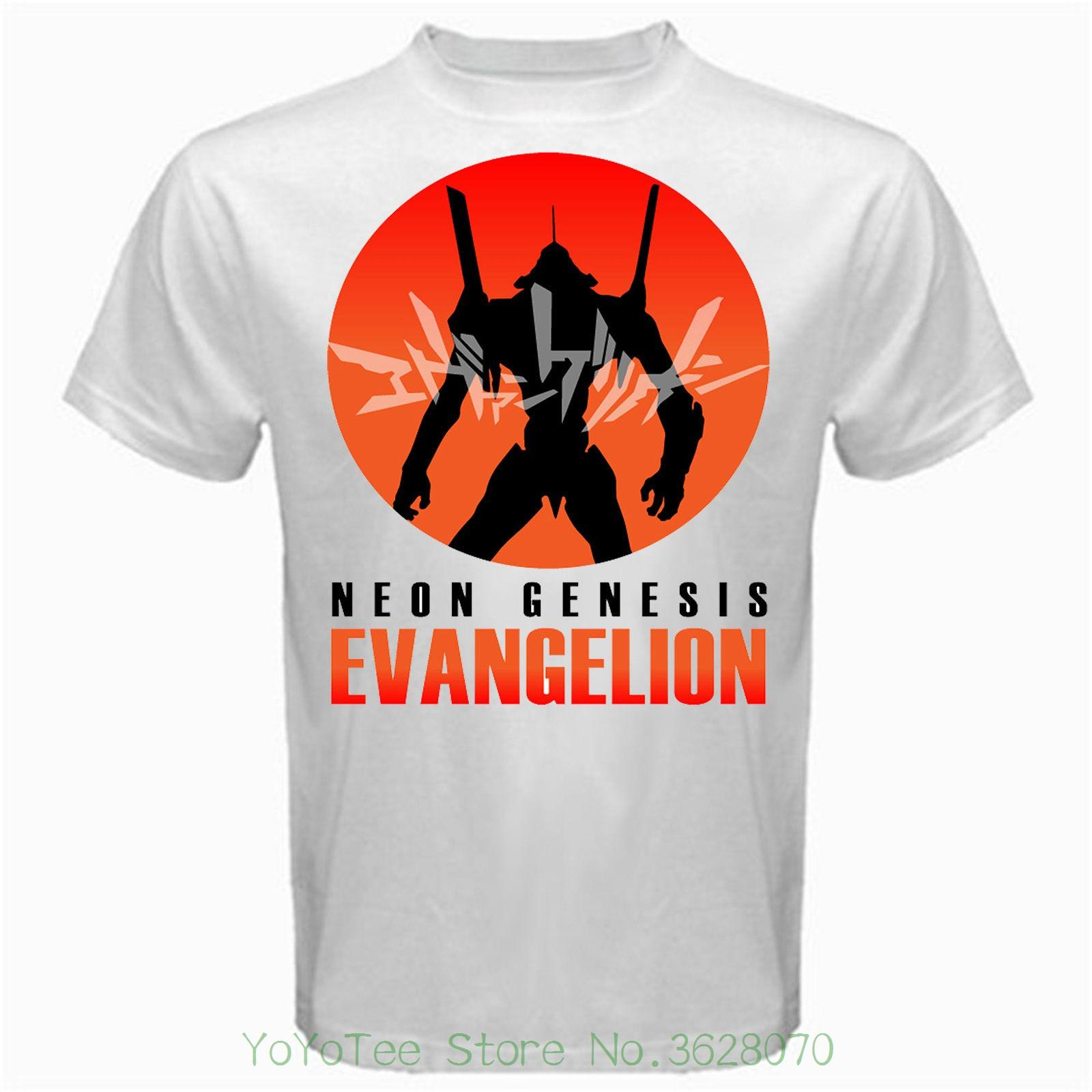 T Shirt Design Basic Top Neon Genesis Evangelion Japan Anime Tv