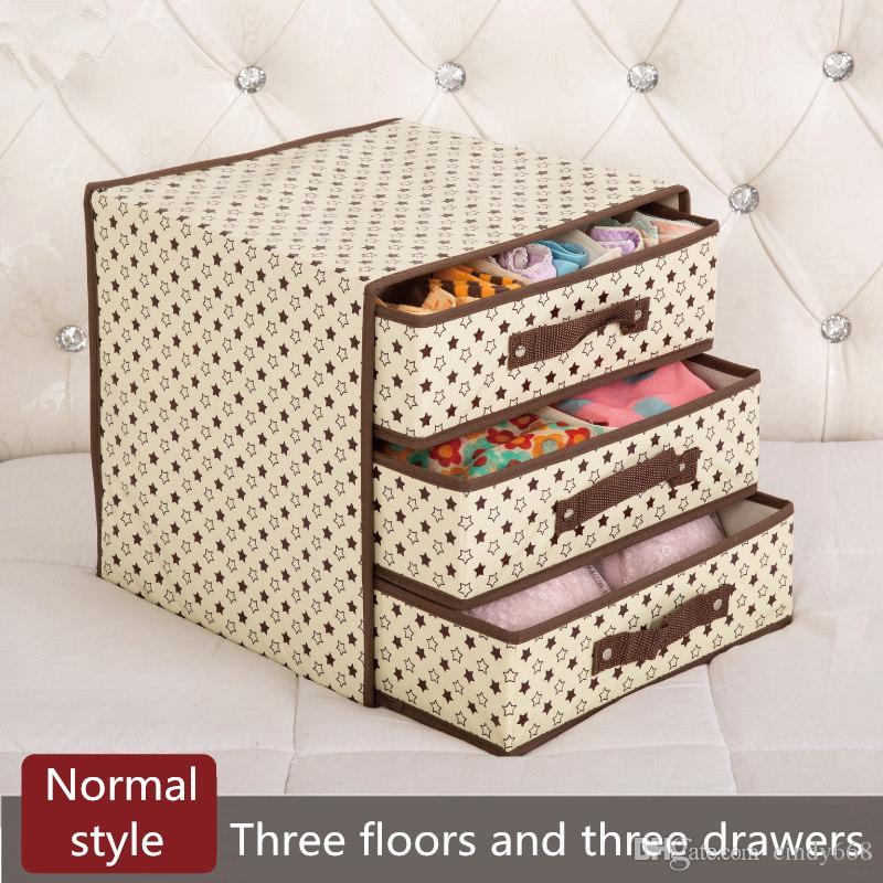 Compre 3 Pisos 3 Cajones Ropa Interior Sujetador Caja De ...