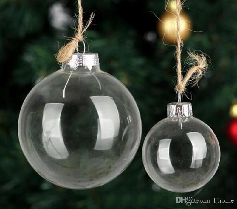 4c60d7a27ff Compre 4CM 6CM Bola De Cristal De Navidad Globo De Cristal Transparente  Decoración Del Día De Navidad Diámetro Diferente Para La Selección A  30.76  Del ...